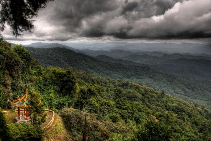 Гора Сутхеп в окрестностях Чиангмая