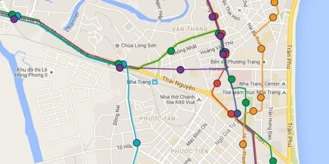Маршруты автобусов в Нячанге карта