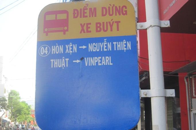 Автобусная остановка в Нячанге