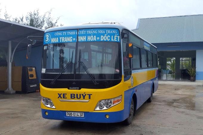 Маршрут автобуса №3 в Нячанге до пляжа Зоклет