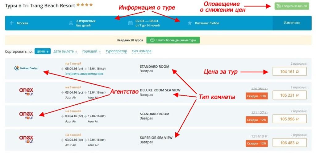 Как искать туры на официальном сайте Travelata