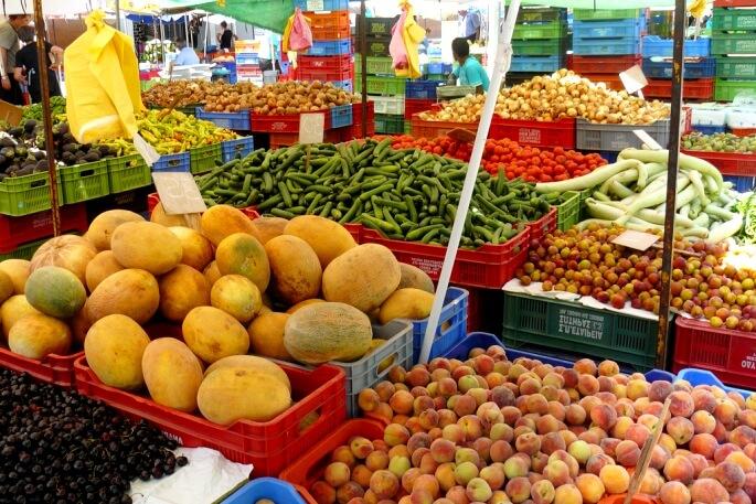 Стоимость фруктов и овощей на Кипре 2018