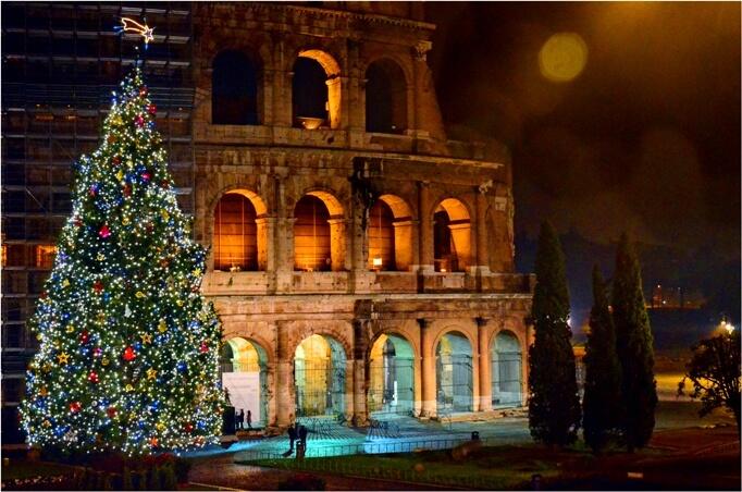 Новогодний Колизей в Риме - недорогой отдых