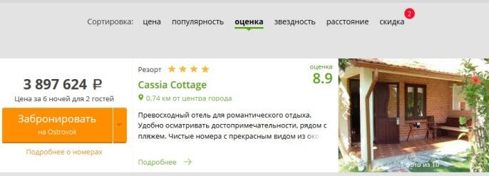 Отель за 4 миллиона рублей