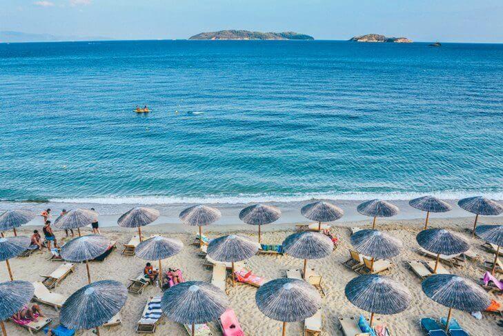 Морской курорт в Греции