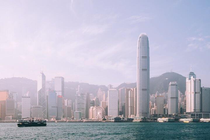 Вид на небоскребы Гонконга