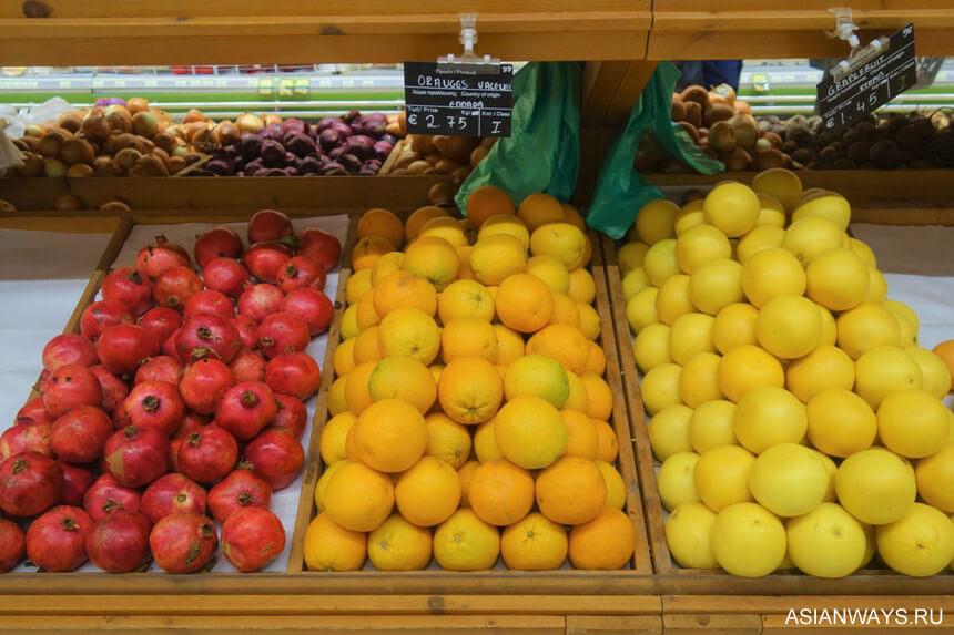 Стоимость фруктов и овощей на Кипре