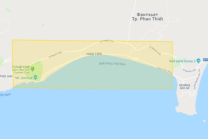 Карта Муйне и Фантьета